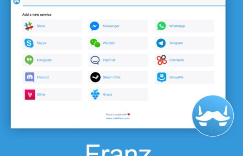 Franz: 14 servicios de mensajería en una sola aplicación